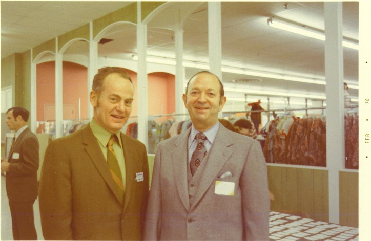 John F. Geisse & Morton D. May, Venture Store #1 Grand Opening, January 29, 1970